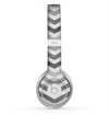 The Gray Toned Layered CHevron Pattern Skin for the Beats by Dre Solo 2 Headphones