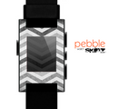 The Gray Toned Wide Vintage Chevron Pattern Skin for the Pebble SmartWatch