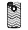 The Gray Toned Wide Vintage Chevron Pattern Skin for the iPhone 4-4s OtterBox Commuter Case
