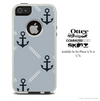 The Gray Vintage Anchor Skin For The iPhone 4-4s or 5-5s Otterbox Commuter Case