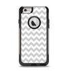 The Gray & White Chevron Pattern Apple iPhone 6 Otterbox Commuter Case Skin Set