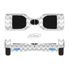 The Gray & White Chevron Pattern Full-Body Skin Set for the Smart Drifting SuperCharged iiRov HoverBoard