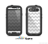 The Gray & White Chevron Pattern Skin For The Samsung Galaxy S3 LifeProof Case