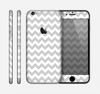 The Gray & White Chevron Pattern Skin for the Apple iPhone 6