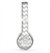The Gray & White Chevron Pattern Skin for the Beats by Dre Solo 2 Headphones
