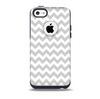 The Gray & White Chevron Pattern Skin for the iPhone 5c OtterBox Commuter Case