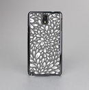 The Gray & White Floral Sprout Skin-Sert Case for the Samsung Galaxy Note 3