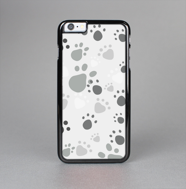 The Gray & White Large Paw Prints Skin-Sert Case for the Apple iPhone 6 Plus