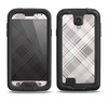 The Gray & White Plaid Layered Pattern V5 Samsung Galaxy S4 LifeProof Fre Case Skin Set