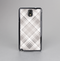 The Gray & White Plaid Layered Pattern V5 Skin-Sert Case for the Samsung Galaxy Note 3