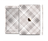 The Gray & White Plaid Layered Pattern V5 Skin Set for the Apple iPad Pro
