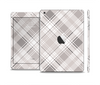 The Gray & White Plaid Layered Pattern V5 Skin Set for the Apple iPad Mini 4