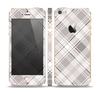 The Gray & White Plaid Layered Pattern V5 Skin Set for the Apple iPhone 5s