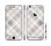 The Gray & White Plaid Layered Pattern V5 Sectioned Skin Series for the Apple iPhone 6s Plus