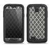 The Gray & White Seamless Morocan Pattern Samsung Galaxy S4 LifeProof Nuud Case Skin Set