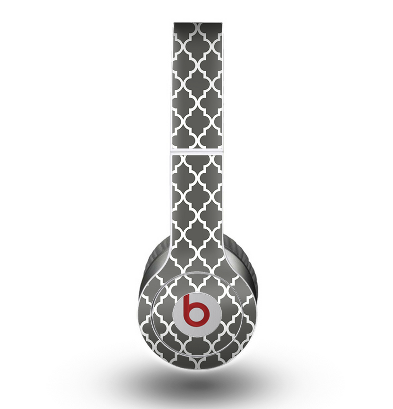 The Gray & White Seamless Morocan Pattern Skin for the Beats by Dre Original Solo-Solo HD Headphones