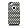 The Gray & White Seamless Morocan Pattern Skin for the iPhone 5c OtterBox Commuter Case