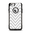 The Gray & White Sharp Chevron Pattern Apple iPhone 6 Otterbox Commuter Case Skin Set