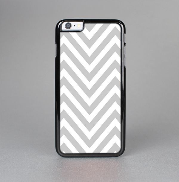 The Gray & White Sharp Chevron Pattern Skin-Sert Case for the Apple iPhone 6 Plus