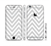The Gray & White Sharp Chevron Pattern Sectioned Skin Series for the Apple iPhone 6 Plus