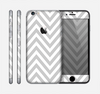 The Gray & White Sharp Chevron Pattern Skin for the Apple iPhone 6