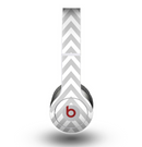 The Gray & White Sharp Chevron Pattern Skin for the Beats by Dre Original Solo-Solo HD Headphones