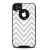 The Gray & White Sharp Chevron Pattern Skin for the iPhone 4-4s OtterBox Commuter Case