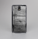 The Gray Worn Wooden Planks Skin-Sert Case for the Samsung Galaxy Note 3