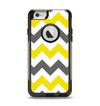 The Gray & Yellow Chevron Pattern Apple iPhone 6 Otterbox Commuter Case Skin Set
