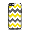 The Gray & Yellow Chevron Pattern Apple iPhone 6 Otterbox Symmetry Case Skin Set