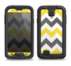 The Gray & Yellow Chevron Pattern Samsung Galaxy S4 LifeProof Nuud Case Skin Set