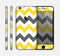 The Gray & Yellow Chevron Pattern Skin for the Apple iPhone 6