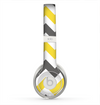 The Gray & Yellow Chevron Pattern Skin for the Beats by Dre Solo 2 Headphones