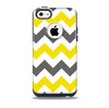 The Gray & Yellow Chevron Pattern Skin for the iPhone 5c OtterBox Commuter Case