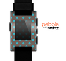 The Gray & Blue Polka Dot Skin for the Pebble SmartWatch