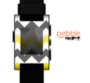 The Gray & Yellow Chevron Pattern Skin for the Pebble SmartWatch