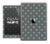 The Gray and Polka Dot Skin for the iPad Air