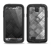 The Grayscale Layer Checkered Pattern Samsung Galaxy S4 LifeProof Fre Case Skin Set
