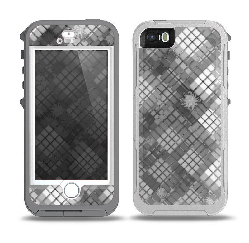 The Grayscale Layer Checkered Pattern Skin for the iPhone 5-5s OtterBox Preserver WaterProof Case
