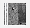 The Grayscale Flower Petals Skin for the Apple iPhone 6 Plus