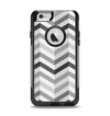 The Grayscale Gradient Chevron Zigzag Pattern Apple iPhone 6 Otterbox Commuter Case Skin Set