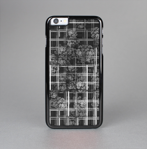 The Grayscale Lattice and Flowers Skin-Sert Case for the Apple iPhone 6 Plus