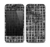 The Grayscale Lattice and Flowers Skin for the Apple iPhone 4-4s