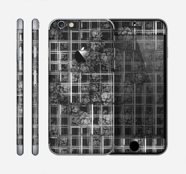 The Grayscale Lattice and Flowers Skin for the Apple iPhone 6