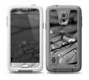 The Grayscale Watered Leaf Skin for the Samsung Galaxy S5 frē LifeProof Case