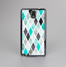The Graytone Diamond Pattern with Teal Highlights Skin-Sert Case for the Samsung Galaxy Note 3
