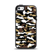 The Green-Tan & White Traditional Camouflage Apple iPhone 5-5s Otterbox Symmetry Case Skin Set