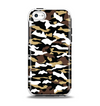 The Green-Tan & White Traditional Camouflage Apple iPhone 5c Otterbox Symmetry Case Skin Set