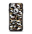 The Green-Tan & White Traditional Camouflage Apple iPhone 6 Otterbox Commuter Case Skin Set
