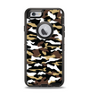 The Green-Tan & White Traditional Camouflage Apple iPhone 6 Otterbox Defender Case Skin Set
